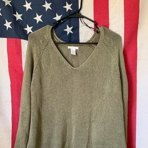 H&M | Olive Green Knitted Sweater